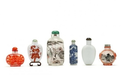 A Collection of Six Chinese Snuff Bottles