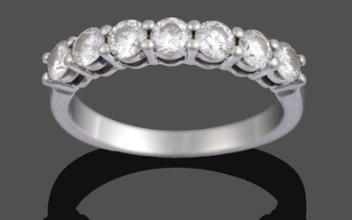 A Diamond Seven Stone Ring, by Tiffany & Co., the...