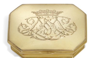 A GEORGE I GOLD SNUFF-BOX, LONDON, CIRCA 1720
