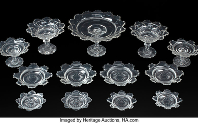 A Group of Thirteen Irish Cut-Glass Table Articles (early 19th century)