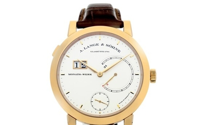 A. LANGE & SÖHNE   REFERENCE 130.032F LANGE 31 A PINK GOLD WRISTWATCH WITH DATE, POWER RESERVE INDICATION AND ZERO-RESET MECHANISM, CIRCA 2018