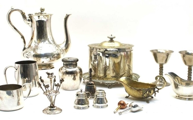 A collection of silver plate