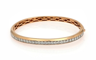 A diamond bangle set with numerous brilliant-cut diamonds totalling app. 1.98 ct., mounted in 18k...