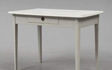 A painted Gustavian style desk, early 20th Century.