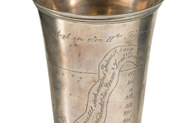 A silver presentation cup for the battalion doctor