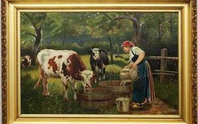 American Pastoral Oil on Canvas