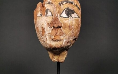 Ancient Egyptian Wooden Mummy Mask