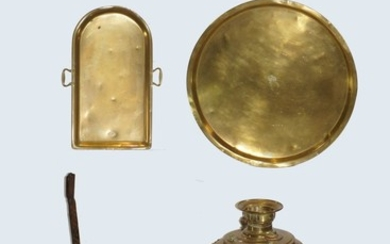 Antique Russian Samovar and Three Brass Objects