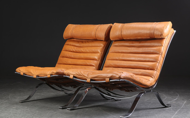 Arne Norell. A pair of lounge chairs, Model Ari, recently reupholstered (2)