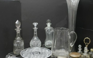 Assorted Clear Glass Serving/Table Service
