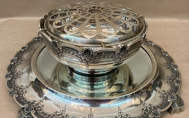Beautiful silver centerpiece / planter - Silver - Portugal - First half 20th century