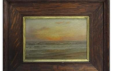 """CALIFORNIA SUNSET"""" SGND K. W. NEWHALL, OIL / PANL (KATE"""