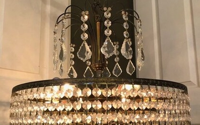 Chandelier - Empire Style - Copper, Crystal