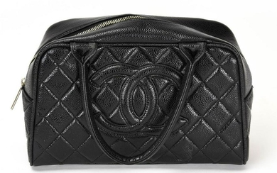 Chanel Style Leather Quilted Purse / Handbag