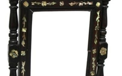 Chinese Carved & Mother-of-Pearl Table Screen