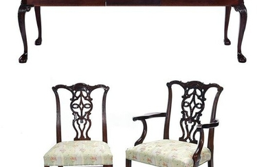 Chippendale Style Mahogany Dining Suite: Extension