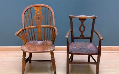 Two Antique Child's Chairs, 19thc.