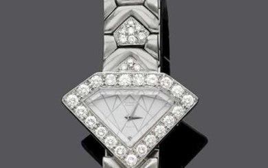 DIAMOND AND GOLD WRIST WATCH, BY MICHALIS.