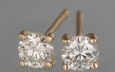 Earrings with brilliant cut diamonds 0.44ct