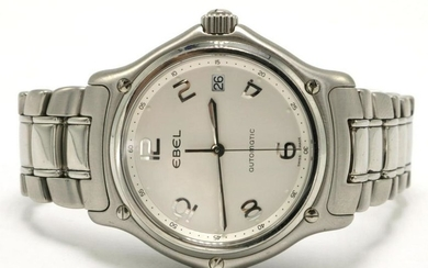 "Ebel ""1911"" White Dial Stainless Steel Watch"