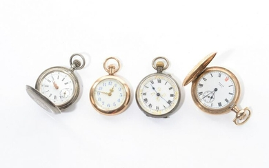 FOUR SMALL POCKET WATCHES