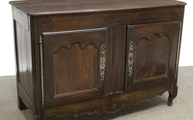 FRENCH PROVINCIAL LOUIS XV STYLE OAK SIDEBOARD