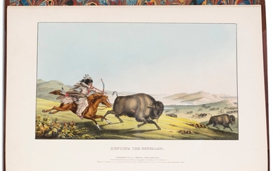 """First edition of """"the grandest color plate book"""", McKenney & Hall, 1836-44"""