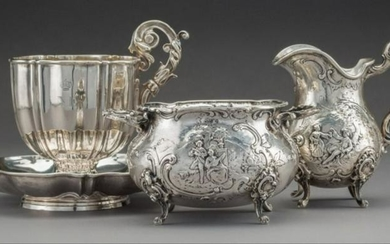 Four French And German Silver Tablewares