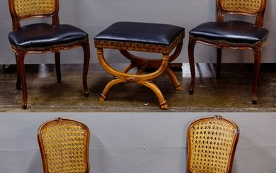 French Provincial Style Chair and Ottoman Assortment