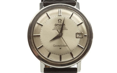 GENTLEMAN'S OMEGA CONSTELLATION AUTOMATIC CHRONOMETER STAINLESS STEEL WRIST WATCH,...