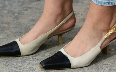 GUCCI ITALIAN COUTURE SLING BACK HEELS 6.5