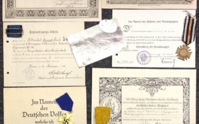 Germany - Award Documents and Medals to Konrad Exner.A super...