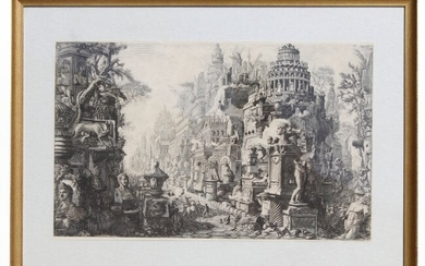 "Giovanni Piranesi ""Appian Way"" Etching"