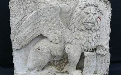 High relief in stone - Stone (mineral stone) - possibly 19th century