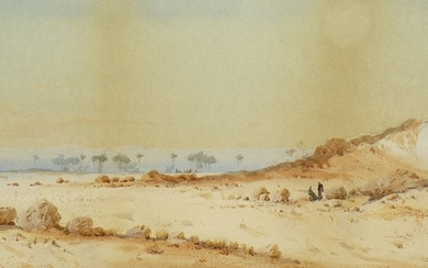 IN THE DESERT, A WATERCOLOUR BY AUGUSTUS