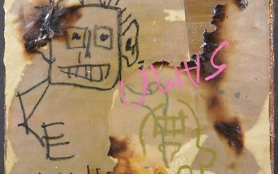 Jean-Michel Basquiat, Manner of: Collage with Two Portraits