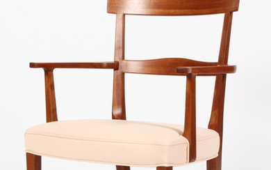Kaare Klint. Armchair in Cuban mahogany and leather, model Ravenna