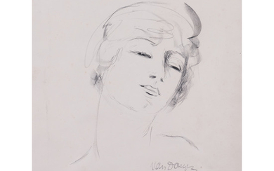 """Kees Van Dongen (1877-1968) Jeune fille aux cheveux blonds, from the """"Femmes"""" album - 1927 Lithograph in black on BFK Rives wate..."""