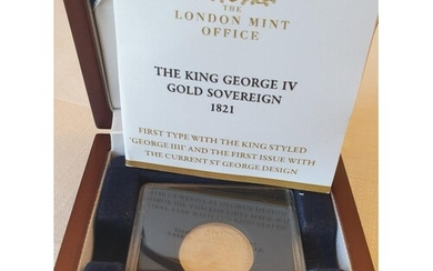 King George IV gold sovereign first issue with the current S...
