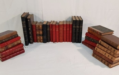 LOT OF 36 LEATHER BOUND BOOKS