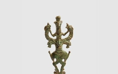 LURISTAN MASTER OF BEASTS STAFF FINIAL NEAR EAST, EARLY