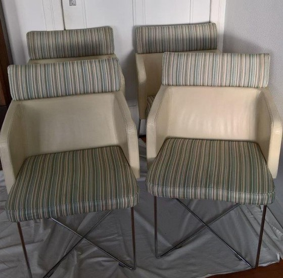 Lot Art | Arhaus Contemporary Dining Chairs