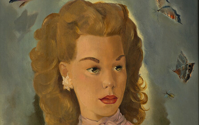 MARIETTE LYDIS (1887 1970) Portrait of a Young Woman with Bu