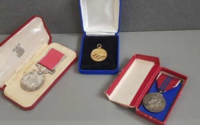 MEDALS GROUP OF THREE ALL BOXED BRITISH EMPIRE MEDALS (ER2) ...
