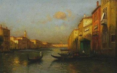 Manner of Antoine Bouvard - Venetian canal with