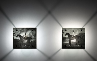 Mat Collishaw, Two works: (i) Antonius, a horse belonging to his grace the Duke of Grafton; (ii) The Marquess of Rockingham's scrub with John Singleton Up
