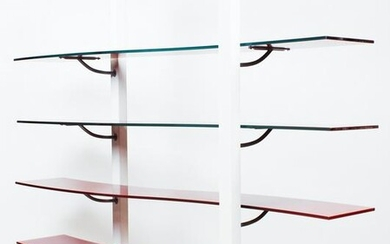 Modern Glass Curved Shelf Unit