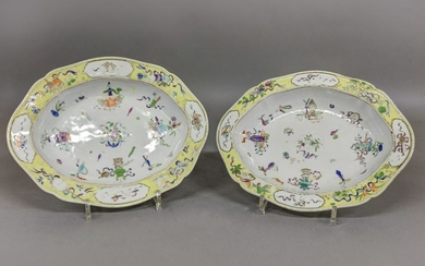 Pair of 18th c. Chinese Vegetable Dishes