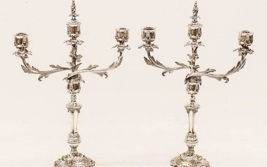 Pair of William & George Sissons Baroque Silver Plated