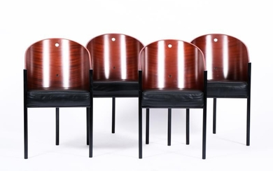 Philippe Starck (Parijs 1949), Vier Costes-chairs, designed in: 1982, produced by: Driade (from 1985).